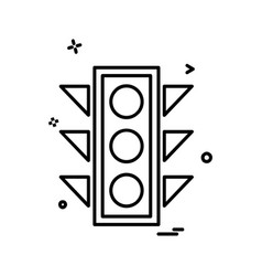 traffic signals icon design vector image