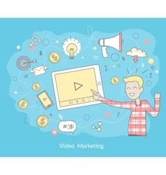 Video Marketing Concept vector