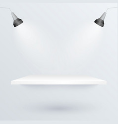 White podium and spotlights to place product vector image