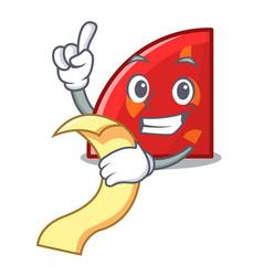 With menu quadrant mascot cartoon style vector