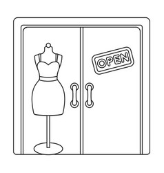 Women s clothing store e-commerce single icon in vector