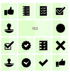 Yes icons vector