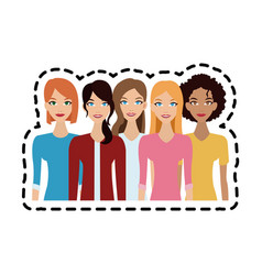 Young adults people icon image vector