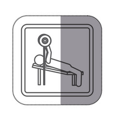 figure man practicing weights lying down icon vector image vector image