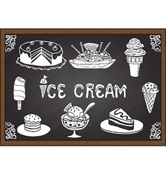 Ice cream and desserts vector image vector image
