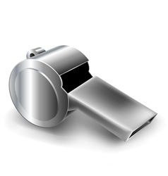 Metal whistle vector image vector image