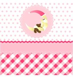 Seamless baby girl pattern vector