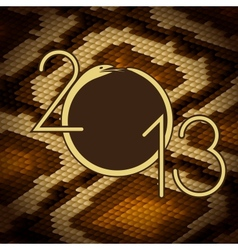 2013 design Python snake skin brown background vector image