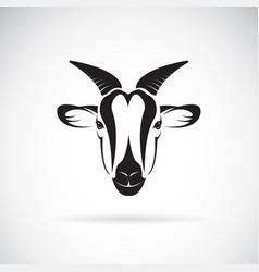 Goat head design on white background wild animals vector