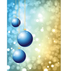 hanging christmas baubles vector image vector image