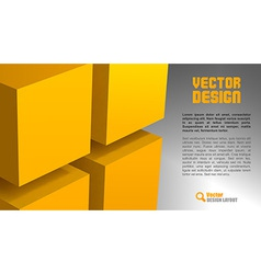 cube layout vector image vector image