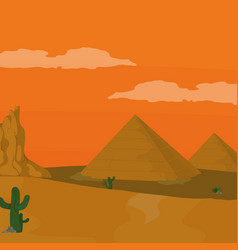 egyptian pyramids cartoon vector image