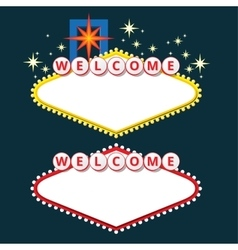 Welcome sign design elements vector image