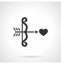 Black design cupids bow icon vector image