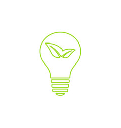 green light bulb icon vector image vector image