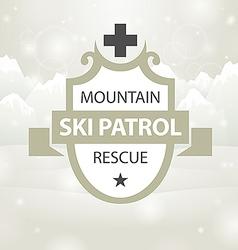 logotype mountain ski patrol rescue vector image