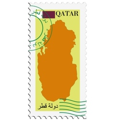 mail to-from Qatar vector image vector image