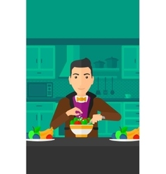 Man cooking meal vector image vector image