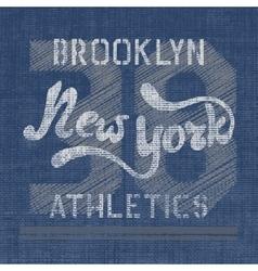 New york athletics label vector