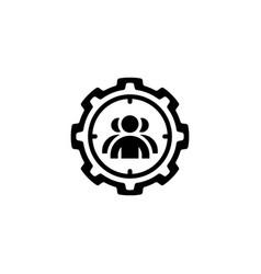 targeting icon flat design vector image