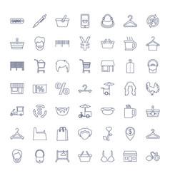 49 shop icons vector