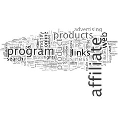 Affiliate programs the fast track to wealth vector