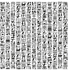 Ancient Egyptian hieroglyphic writing vector