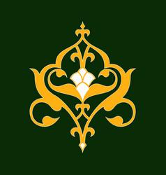 Arabic floral border beautiful decoration design vector