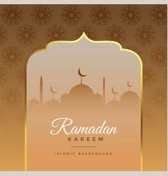 Beautiful ramadan kareem islamic greeting vector