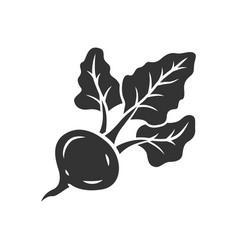 Beet glyph icon vector