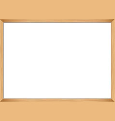 Blank wooden frame template vector