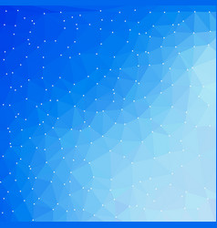 blue technology digital background with triangle vector image