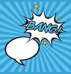 Bubble bang pop art cartoon design vector
