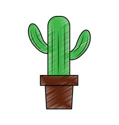 cactus in pot icon image vector image