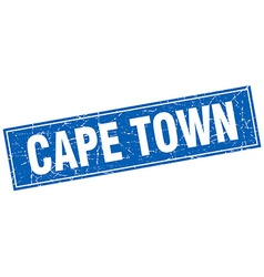 Cape Town blue square grunge vintage isolated vector