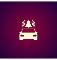 Car alarm Flat vector