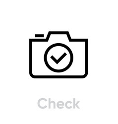 check icon editable outline vector image