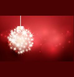 christmas ball made with light stars sparkles vector image