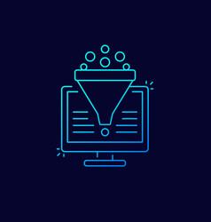 Conversion rate optimization sales funnel icon vector