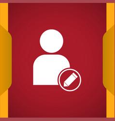 Edit user icon for web and mobile vector