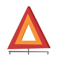 Emergency warning triangle vector image