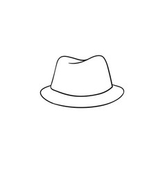 Fedora hat hand drawn sketch icon vector
