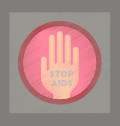 Flat shading style icon stop aids symbol vector