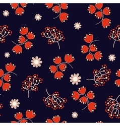 Floral seamless pattern spring flowers vector