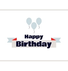 Happy Birthday Label With Balloons vector