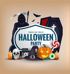 happy halloween banner 4 vector image