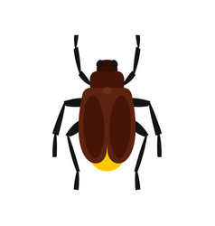 Harvest bug icon flat style vector