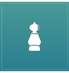 Icon of chess pawn vector