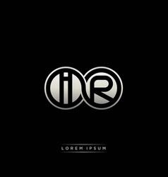 Ir initial letter linked circle capital monogram vector