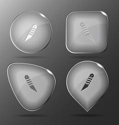 Knife Glass buttons vector